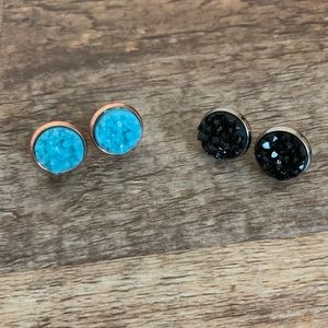 👚4 for $20👚2 pairs of druzy studs